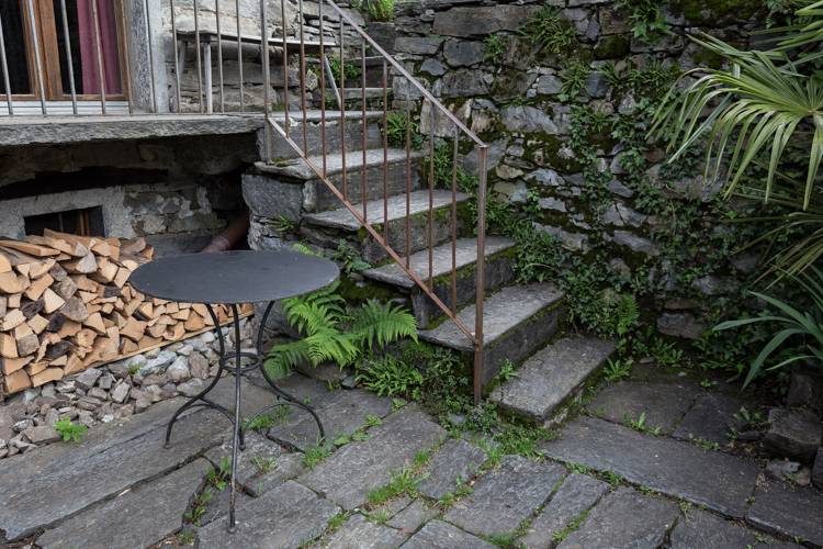 Die Treppe zum Hauseingang