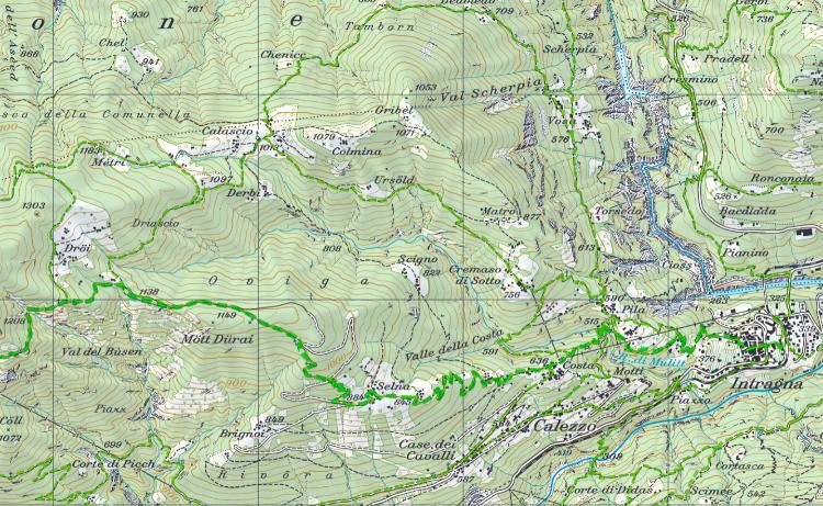 Wandergebiet um Pila, Ausgangspunkt für das Centovalli und das Onsernonetal